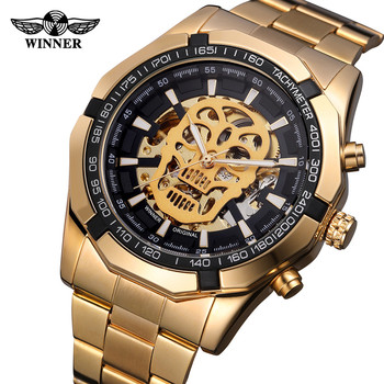 T-WINNER zegarek mężczyźni Hollow Demon Dial automatyczny zegarek męskie zegarki top marka luksusowe projekt biznes zegarek mechaniczny zegarek reloj tanie i dobre opinie Na wyspie WHooHoo Hook buckle 3Bar 24cm Moda casual Ze stali nierdzewnej Automatyczne self-wiatr 15mm Okrągły Nie pakiet