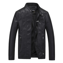 Mens Pu faux Leather suit men Jacket  Coat Korean Self-cultivation Youth Locomotive Clothing Tide Hot Sale