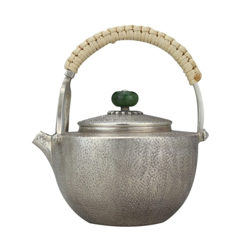 Teiera, teiera in acciaio inox, argento teiera, teiera di acqua calda teiera, teiera 320 ml di acqua, kung fu tea set.