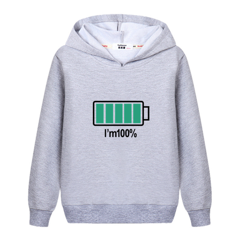 Electricity 100% Design Kids Pullover Long Sleeve Cotton Hoodie Boys Autumn Casual Sweatshirt Girls Energy Spring Clothes Child Jacket 3
