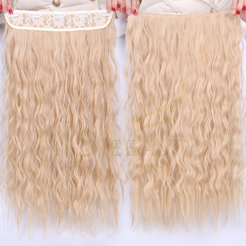 ALI shop ...  ... 32840522443 ... 2 ... AISI BEAUTY Long Clips in Hair Extension Synthetic Natural Hair Water Wave Blonde Black Brown Red 22