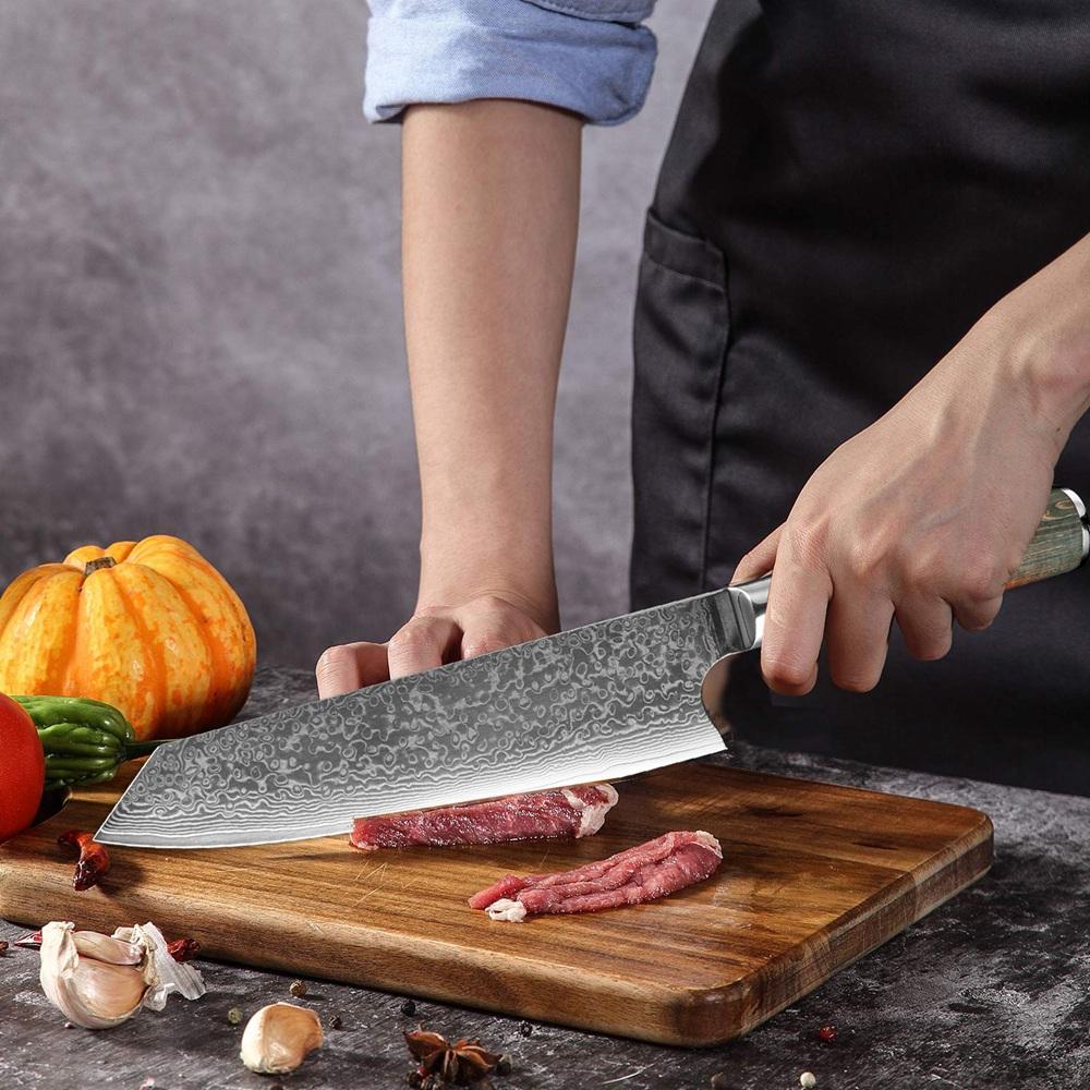 8-INCH DAMASCUS STEEL JAPANESE KNIFE