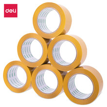 Deli High Quality Beige Sealing Tape Packaging Wide Tapes 60mmx100y (91.4m/roll) 6 Rolls Office Supplies 30359