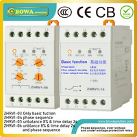 Voltage Monitoring Relay with mulit-functions include over or under-voltage & time delay  unbanlance  phase sequence and failure