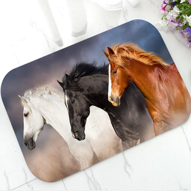 Running Horses Horse Carpet Rug