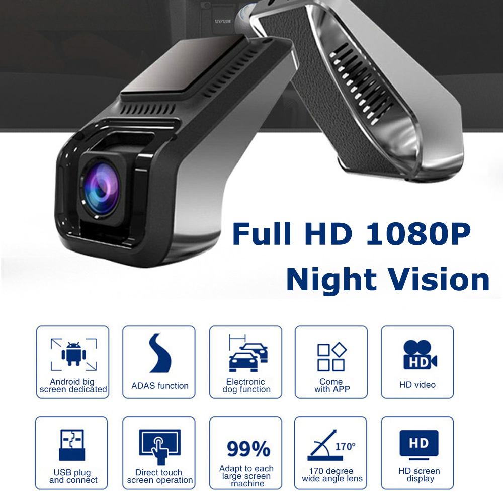 Car Dvr Dash Cam Video Recorder 1080P Dashcam Dash Camera Car USB DVR ADAS android Car recorder Night Version Auto Recorder 4