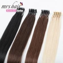 MrsHair Fast Install 6D-2 Hair Extension Micro Beads Hair Install by 6D-2 Machine Remy Human Hair DIY For Salon 50g #1B #2 #4