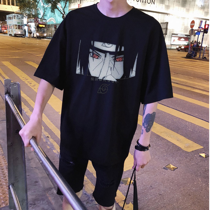 2020 Japan Samurai Warrior Naruto Uchiha Sasuke Itachi T Shirt  Harajuku Streetwear Diablo Style Clothes T Shirt Men Gift