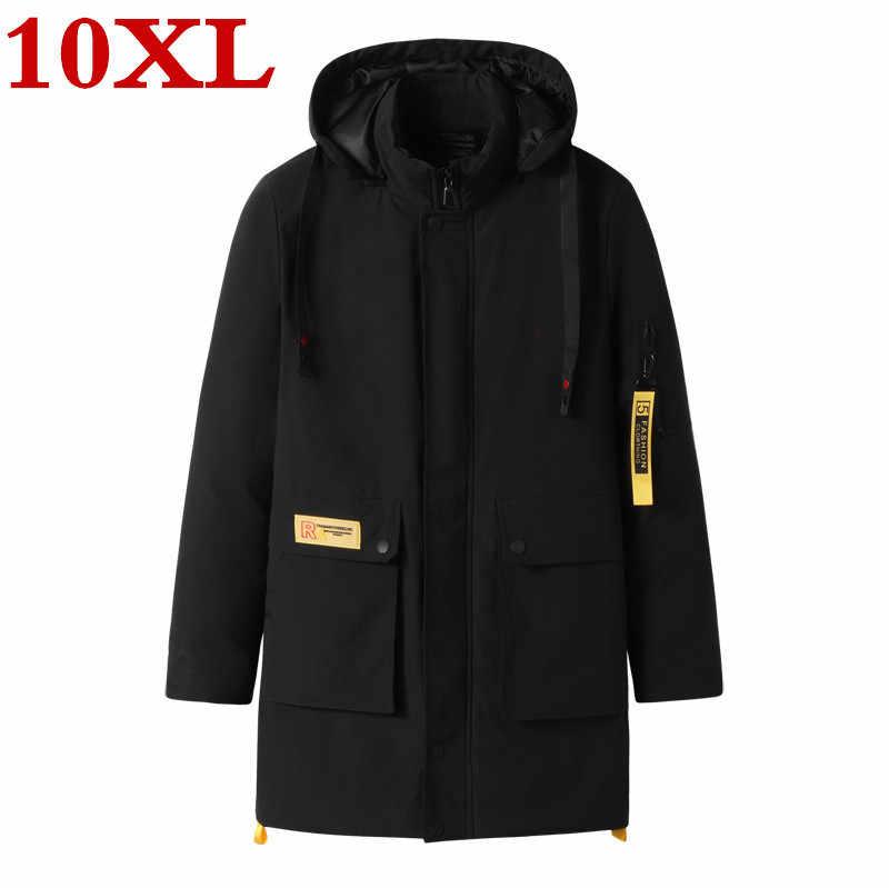 Plus größe 10XL 9XL 8XL 7XL 6XL Marke winter lange Parka jacke für männer dicken Parka mantel für männer padded winter jacke warme kleidung