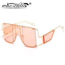 Fashion Square Rihanna Sunglasses Women Oversized Mirror Men Shades Glasses Luxu
