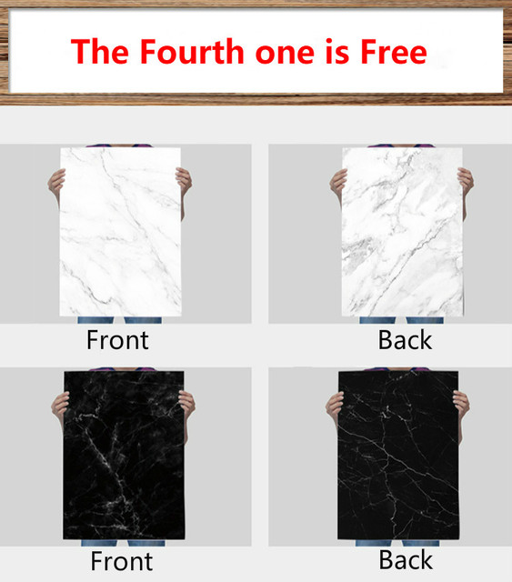 [Buy 4 Free 1] 57X87cm Photography Marbling Backdrop 2 Sided Photo Background Wood Grain Waterproof Backdrops Paper Studio Photo 1