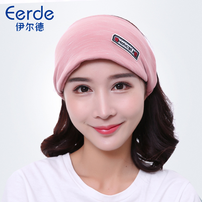Confinement Cap Women's Autumn Pregnant Women Thick Fashion Cute Dong Ji Mao Postpartum Windproof Headscarf Maternal Pregnant Wo