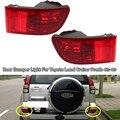 1/2 шт., красные противотуманные светильник для заднего бампера Toyota Land Cruiser Prado 120 серии GRJ120 TRJ120 FJ120 2002-2009 без лампы, противотуманные фары