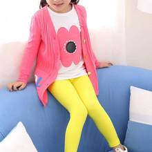 Leggings Girls Pants Children's Korean Spring Autumn Milk-Silk Candy-Color 3-10-Years