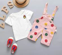 BibiCola 2019 baby girl clothing sets summer newborn toddler outfits cartoon T-shirt+casual rompers cotton clothes infant suit(China)