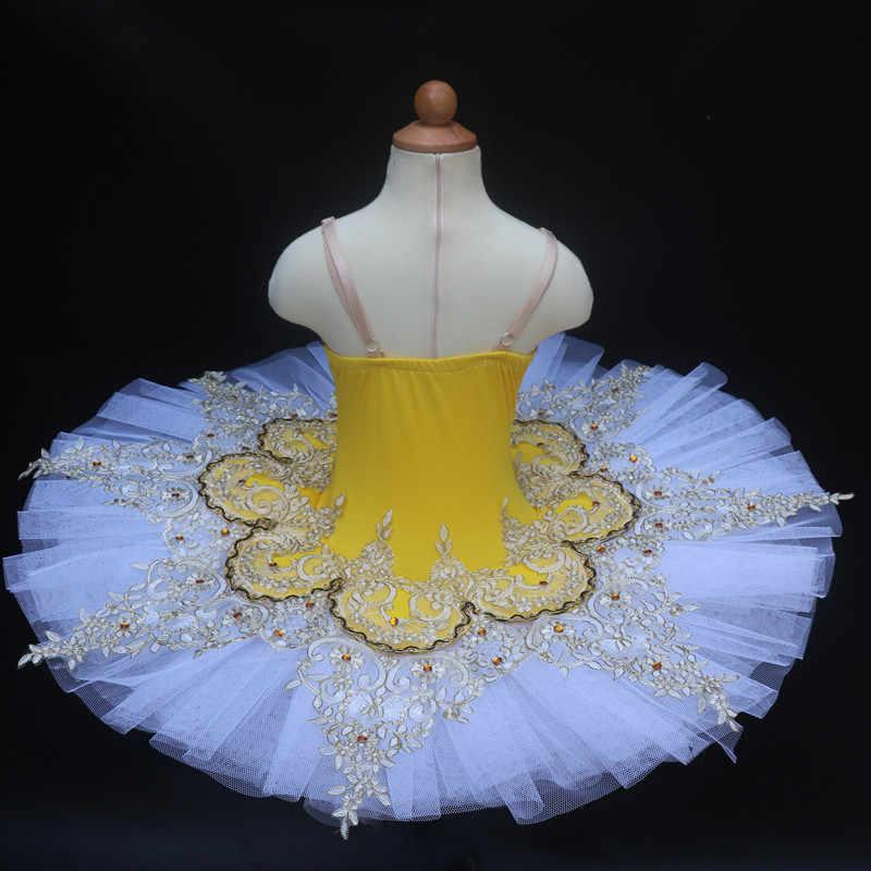 Mavi Profesyonel Bale Tutu Çocuk Çocuk Kız Adulto Kuğu Gölü Elbise Kadınlar Gözleme Tutu Balerin Dans Kostümleri Parti