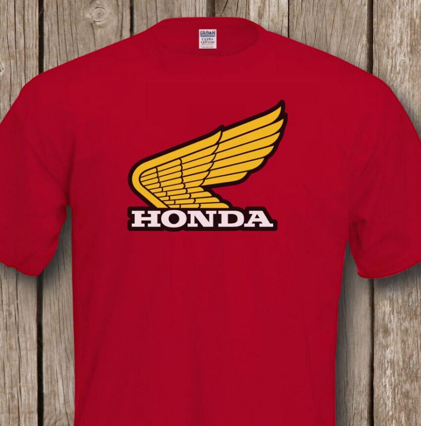 Classic Biker HONDA T-SHIRT - Premium Quality Tee - Flock Design