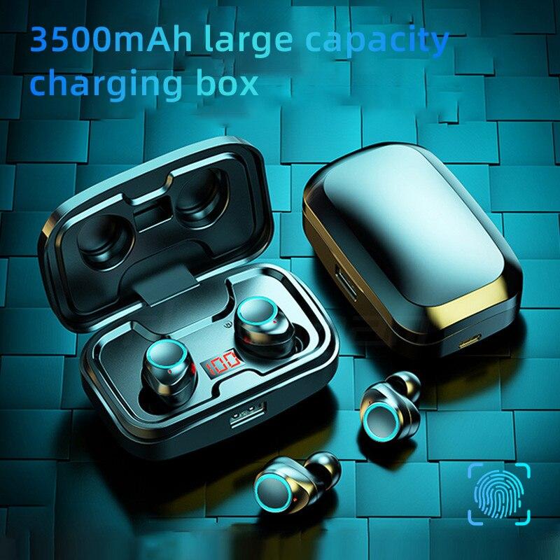 TWS Bluetooth 5.0 אוזניות 3500mAh טעינת תיבת אלחוטי אוזניות 9D סטריאו ספורט עמיד למים אוזניות אוזניות עם מיקרופון