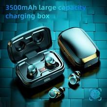TWS Bluetooth 5.0 słuchawki 3500mAh ładowanie Box bezprzewodowe słuchawki 9D Stereo sport wodoodporne słuchawki douszne z mikrofonem