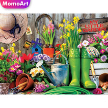 MomoArt 5D Cartoon Diamond Painting Full Drill Square DIY Flowers Embroidery Cross Stitch Gift Wall Decoration momoart 5d full drill square diamond painting flowers diy diamond embroidery daisy cross stitch home decoration gift