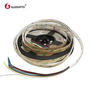 Image 5 - Gledopto RGB + CCT LED רצועת אור rgb ww/cw DC24V 5 מטרים IP65 עמיד למים ו IP20 לא עמיד למים rgbcct אור SMD 5050 SMD 2835