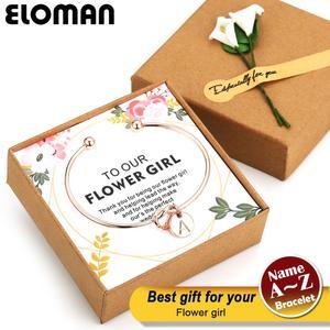 A~Z wedding flower girl gift Fashion Name Jewelry Initial Alloy Letter Charm Bracelets For wedding flower girl favor decoration