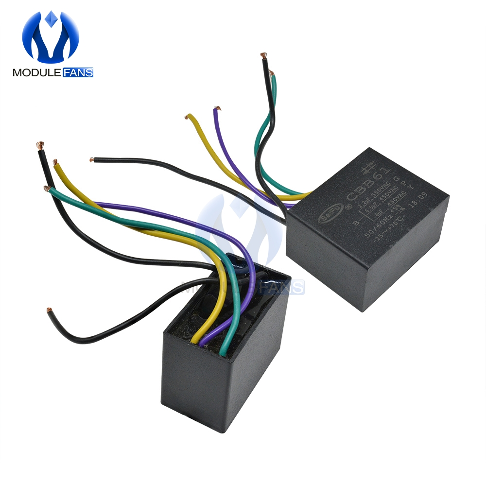 5 cinq fils CBB61 500 V/450 V AC moteur vitesse condensateur ventilateur réfrigérateur démarrage condensateur Terminal ventilateur de plafond moteur CBB
