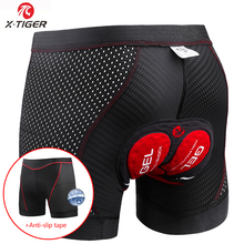 X-Tiger Cycling Shorts Upgrade 5D Gel Pad Cycling Underwear Pro Shockproof Cycling Underpant Bicycle Shorts Bike Underwear