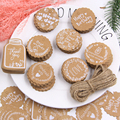 50PCS Kraft Paper Tags With Rope Handmade/Thank You/Happy Birthday Crafts Hang Labels Gift Wrapping DIY Wedding Party Supplies