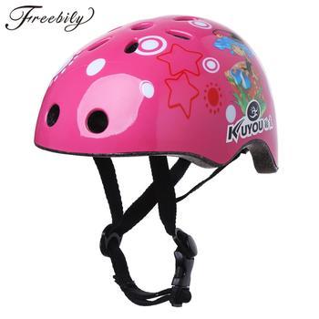 Kaski jeździeckie dla dzieci śliczny karton dinozaur dla dzieci deskorolka rowerowy hełm ochronny chłopcy dziewczęta Skating kolarstwo kaski ochronne tanie i dobre opinie 230g 8-15 Formowane integralnie kask Kids Multi-sport Protective Helmets balance bike Protect helmet