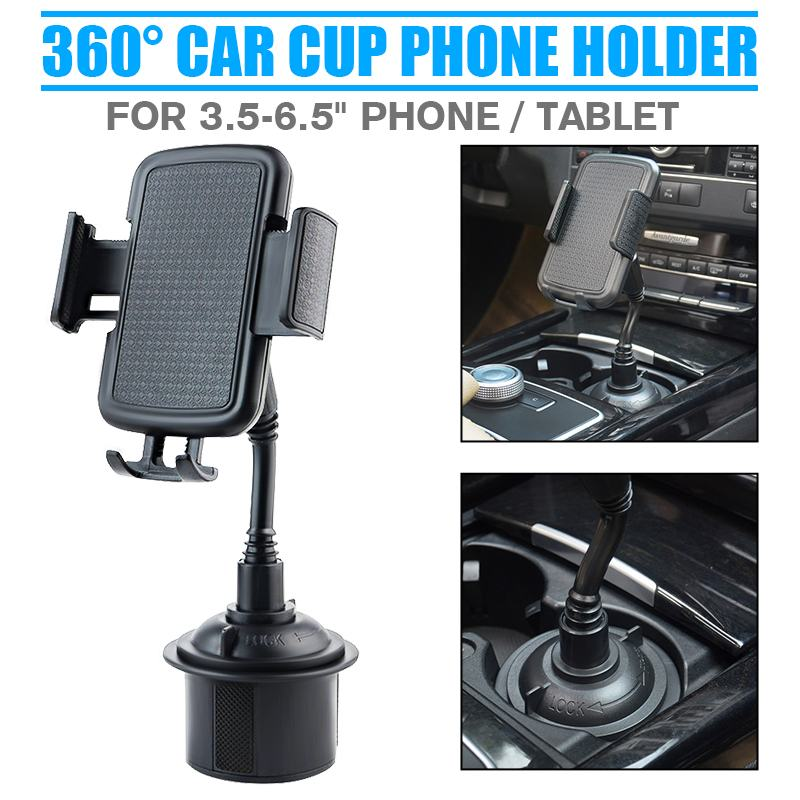 Universal 360° Car Cup Holder Stand Car Phone Holder Cradle Mount Smartphone Bracket For xiaomi Mobile Phone/Cell Phone/GPS image
