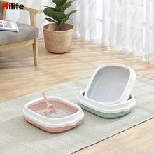 HILIFE Anti-Splash Dog Toilet Cat Dog Tray with Scoop Pet Toilet Bedpan 1 Set Excrement Training Sand Litter Box Cat Litter Box