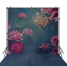 200x400cm polyester customized Oil Painting Flower Photography Background