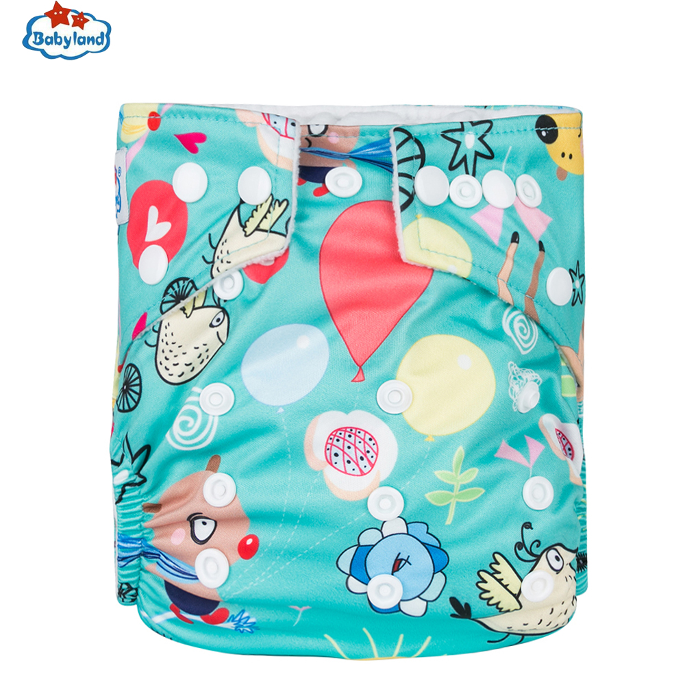 [New Store Promotion ] 20pcs Washable Cloth Diaper Baby Reusable Diapers Newest Prints Babyland Microfleece Nappy Pocket Style