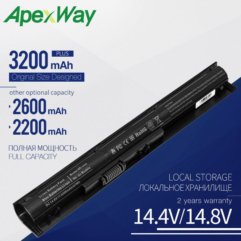 Apexway 4 Cell VI04 VIO4 Laptop Battery For HP ProBook 440/450 G2 Series 756743-001 756745-001 756744-001 756478-421 HSTNN-DB6I
