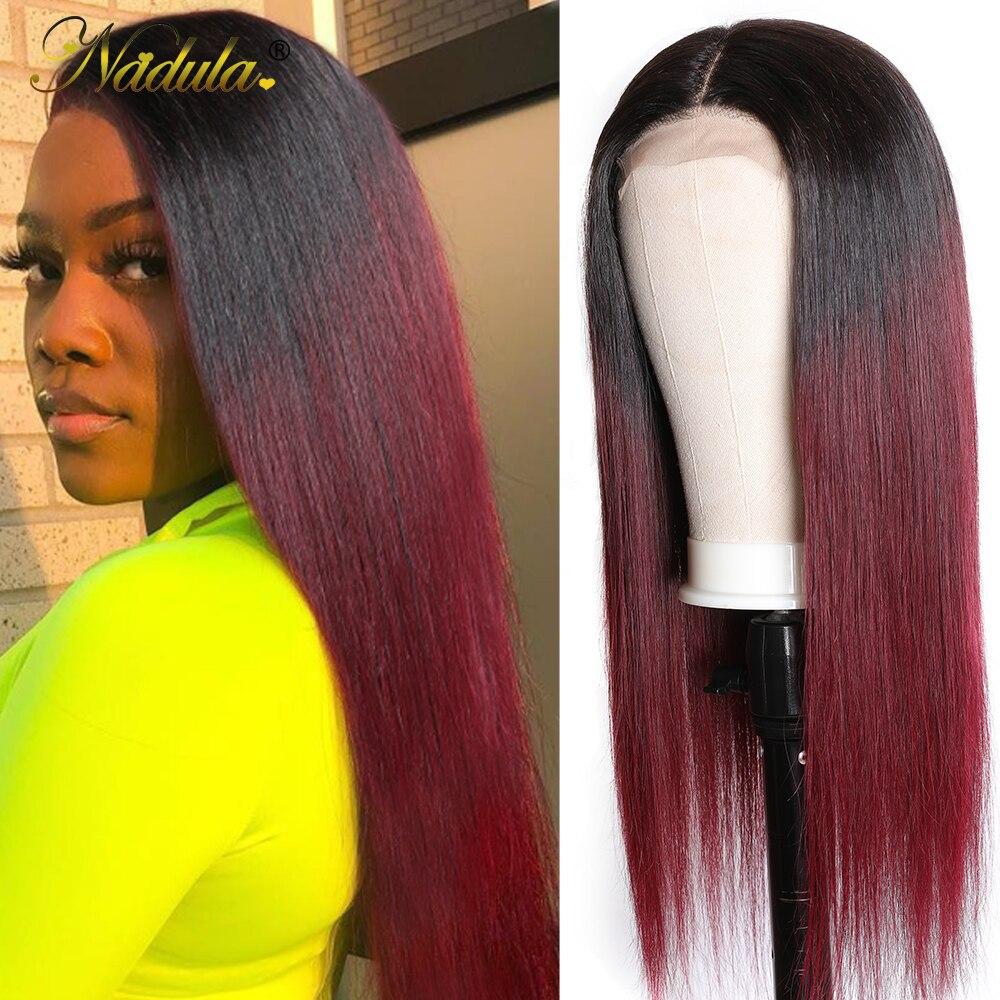 4x4 Lace Closure Wigs 1B/99J Straight Closure Wig  Brazlian Virgin Hair Wigs 10-20inch  Wig Pre Plucked 1