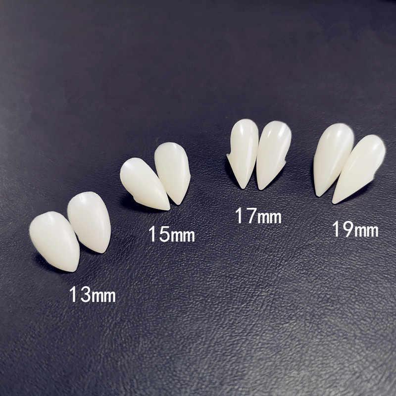 4 tamanho dentes de vampiro dentes dentaduras adereços halloween traje adereços festa favores do feriado diy decorações horror adulto para crianças