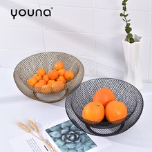 Fruit Plate Double Wrought Iron Basket Dried Living Room Decoration Ornament bowl