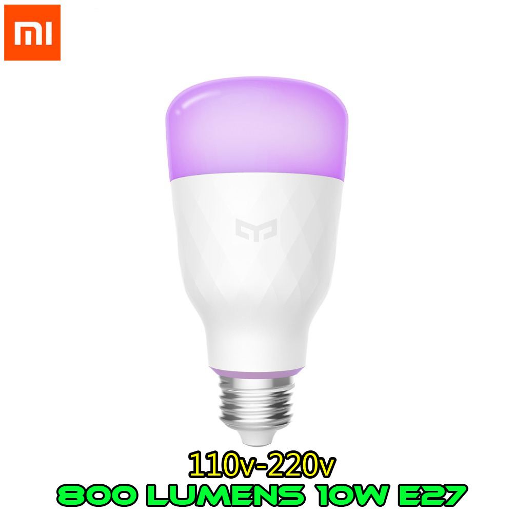 English Version Xiaomi Yeelight Smart LED Bulb Colorful 800 Lumens 10W E27 Lemon Smart Lamp For Mi Home App RGB Option