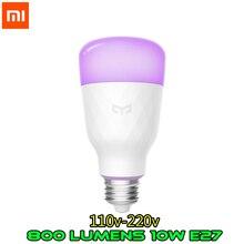 الإنجليزية النسخة شياو mi Yeelight الذكية LED لمبة الملونة 800 لومينز 10W E27 الليمون الذكية مصباح ل mi المنزل app RGB الخيار