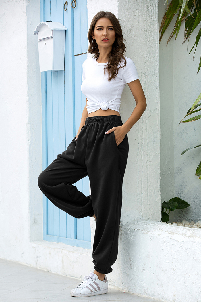 2020 solid high waist pants women clothes γυναικεία παντελόνα casual streetwear msow