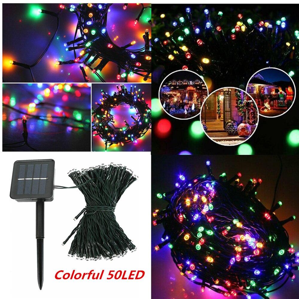 Christmas Tree Garden Waterproof Solar Chain String Lights Outdoor Decoration
