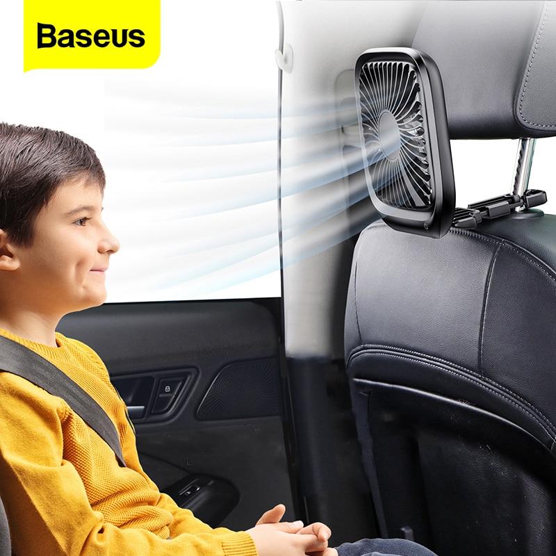 Baseus Car Fan Cooler Foldable Silent Fan For Car Backseat Air Condition 3 Speed Adjustable Mini USB Fan Desk Fan Auto Cooling