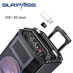 Image 2 - 휴대용 야외 파티 배터리 스피커 오디오 시스템 사운드 활성 Mp3 플레이어 디지털 앰프 손잡이와 10 인치 확성기