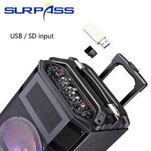 Image 2 - נייד חיצוני מסיבת סוללה רמקול אודיו מערכת קול פעיל Mp3 נגן דיגיטלי מגבר 10 אינץ רמקול עם ידית