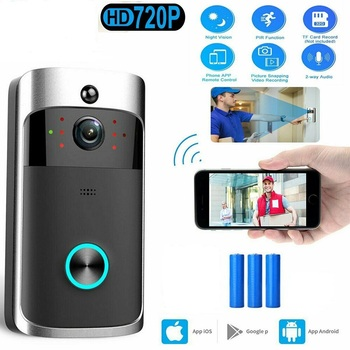 Wifi Camera Smart Doorbell Wireless Call Intercom Video-Eye for Apartments Door Bell Ring for Phone Home Security Cameras image