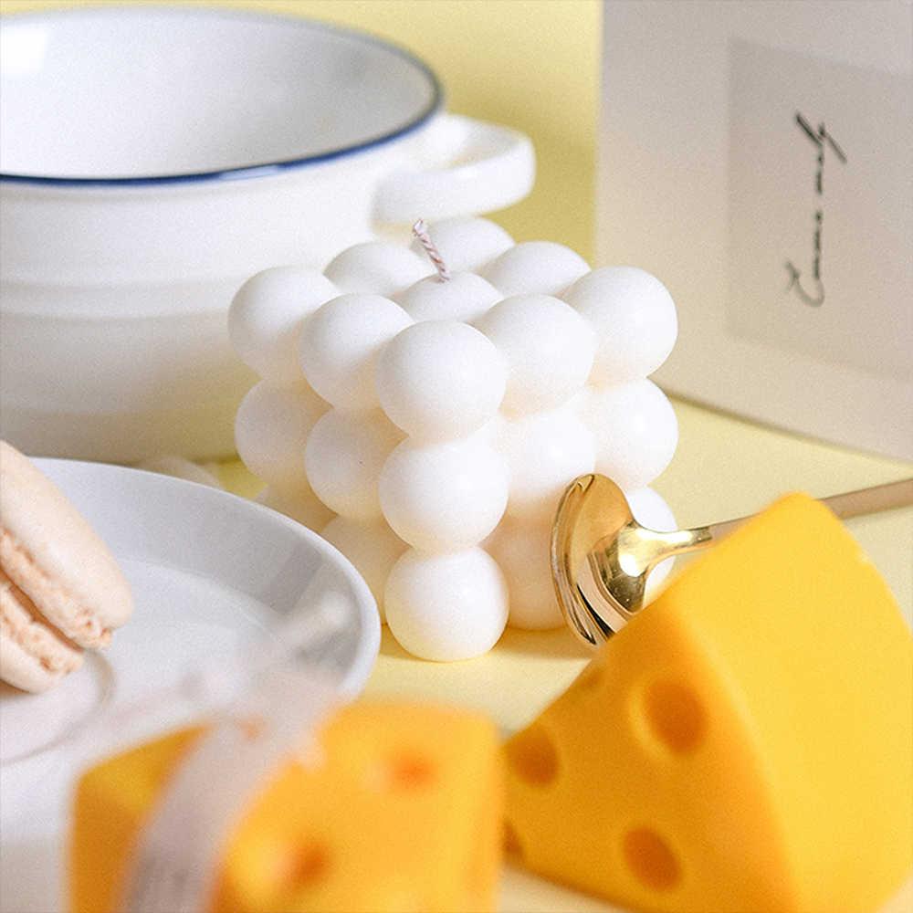 Nuevo bricolaje velas molde vela de cera de soja molde aromaterapia escayola vela 3D molde de silicona hecho a mano-de soja, Aroma de cera para hacer jabón molde para velas