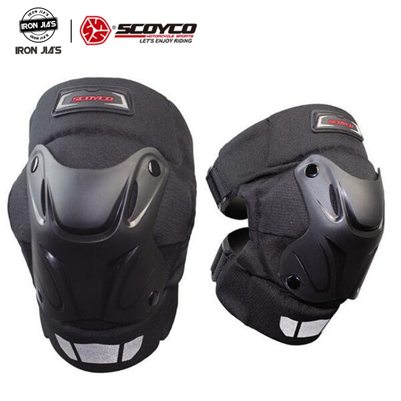 SCOYCO Motorcycle kneepads Protective Racing Shell Knee Pads Gear Off Road Motocross Safety Protector Knee Protective Kneepads