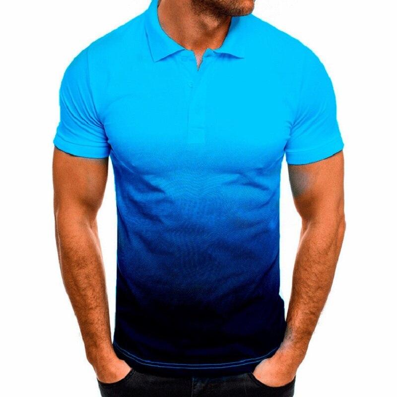 KB Men Polo Men Shirt Short Sleeve Polo Shirt Contrast Color Polo New Clothing Summer Streetwear Casual Fashion Men tops 4