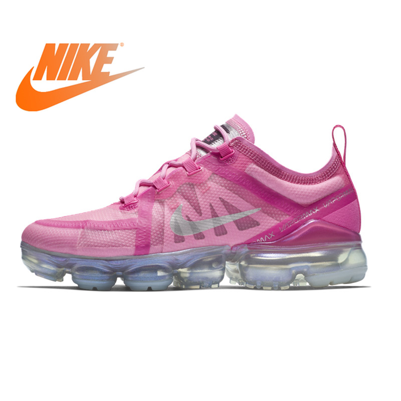 Original Nike Air VaporMax 2019 Women's Running Shoes Comfortable Outdoor Sneakers Jogging Athletic Designer Footwear AR6632-600